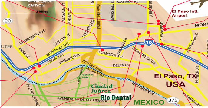 El Paso Area Hotels near Rio Dental